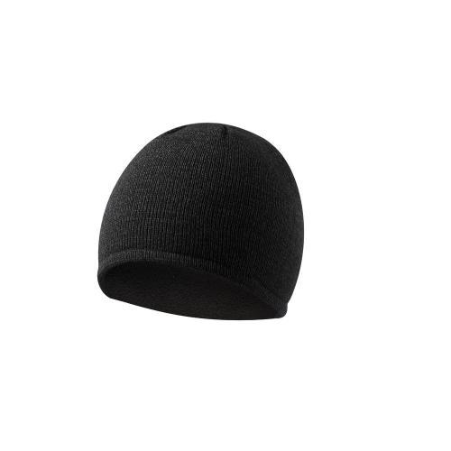 Czapka zimowa, połyskliwy materiał czarny