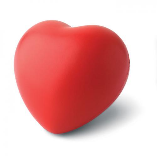 Antystres serce czerwony