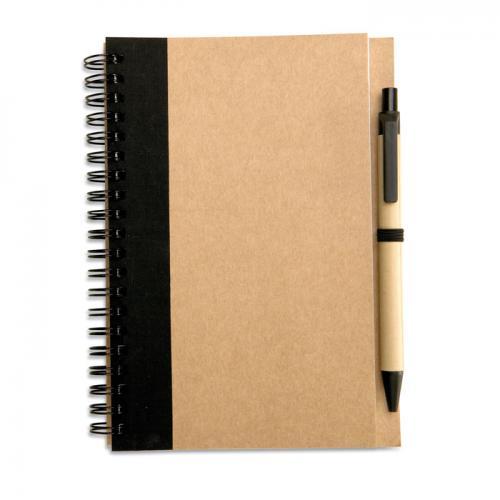 Notes z długopisem czarny