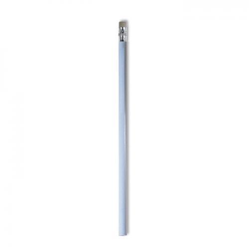 Ołówek z gumką biały