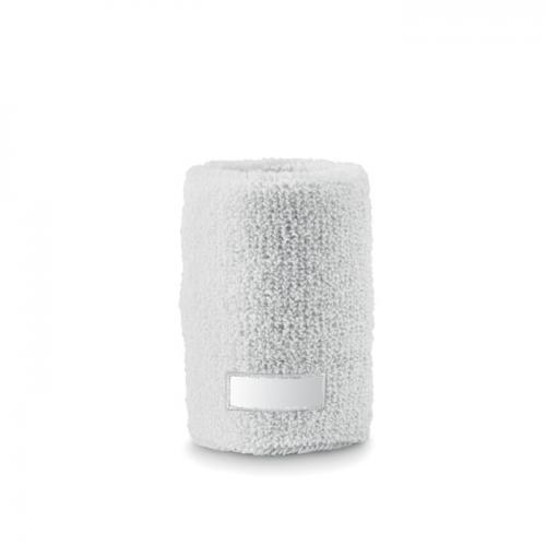 Opaska-frotka na nadgarstek biały