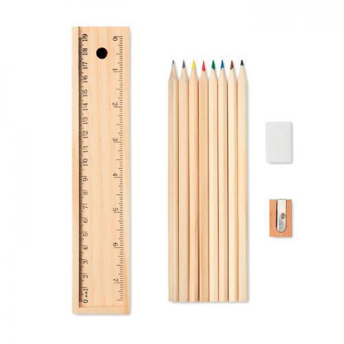 Zestaw kredek i ołówków drewna