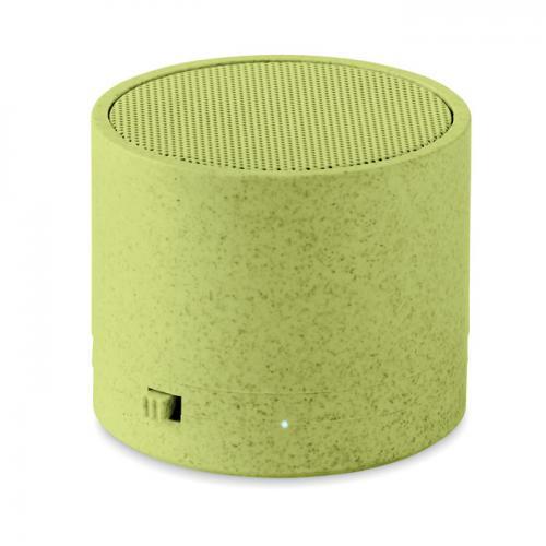 Głośnik ze słomy pszenicy/ABS zielony