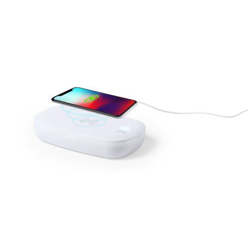 Ładowarka bezprzewodowa 5W, sterylizator UV-C biały