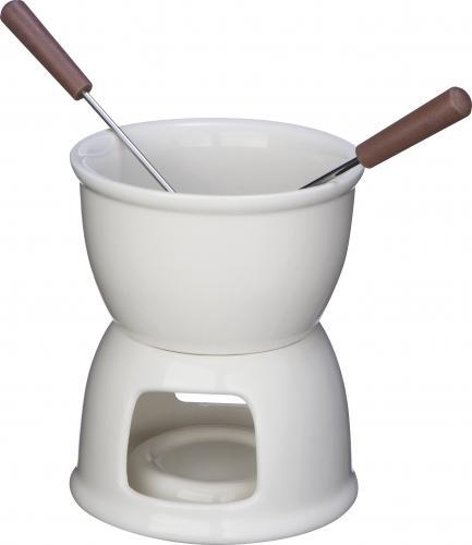 Zestaw do fondue biały
