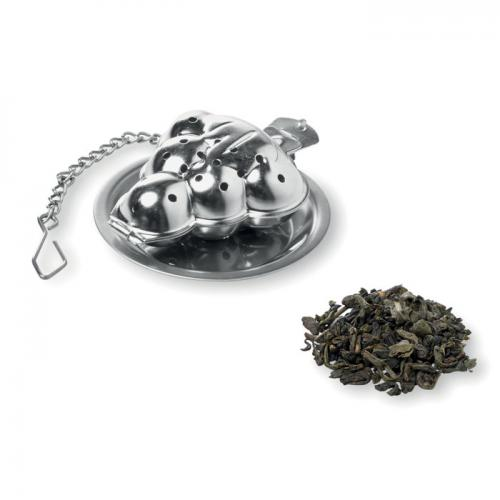 Zaparzacz do herbaty srebrny mat