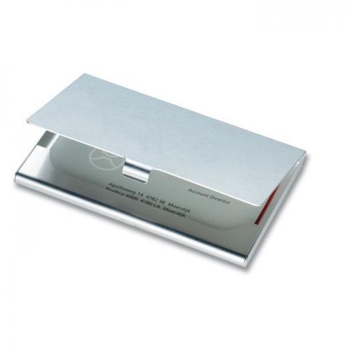 Aluminiowy wizytownik srebrny błyszczący
