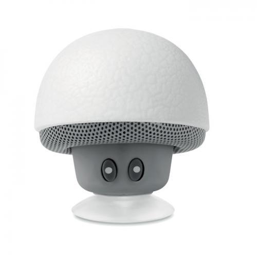 Głośnik z lampką-grzyb biały