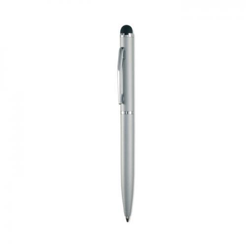 Metalowy długopis srebrny mat
