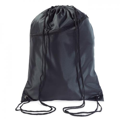 Duży worek zamykany na sznurki czarny