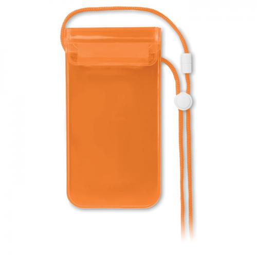 Wodoodporne etui na smartfon przezroczysty pomarańczowy