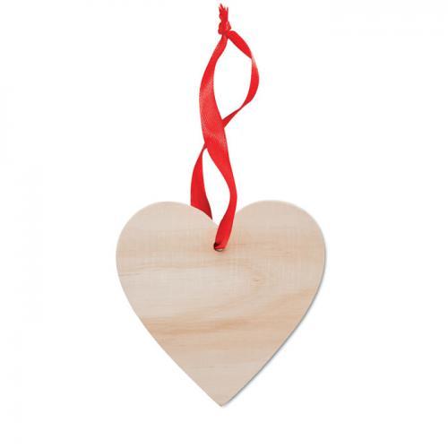 Zawieszka serce drewna
