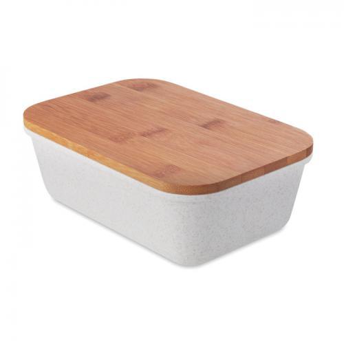 Lunchbox z bambusową pokrywką beżowy