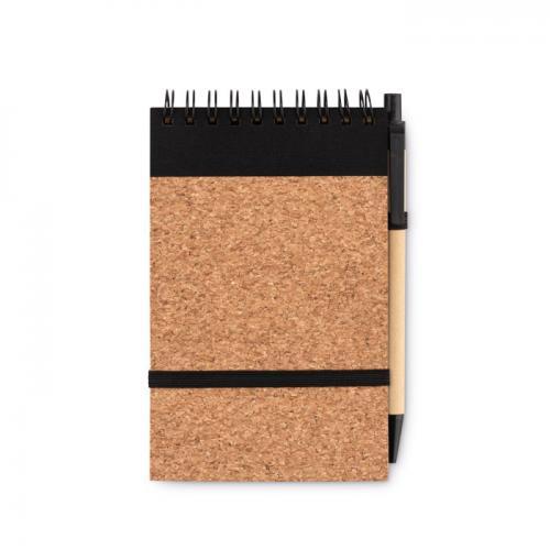 Korkowy notatnik A6 czarny