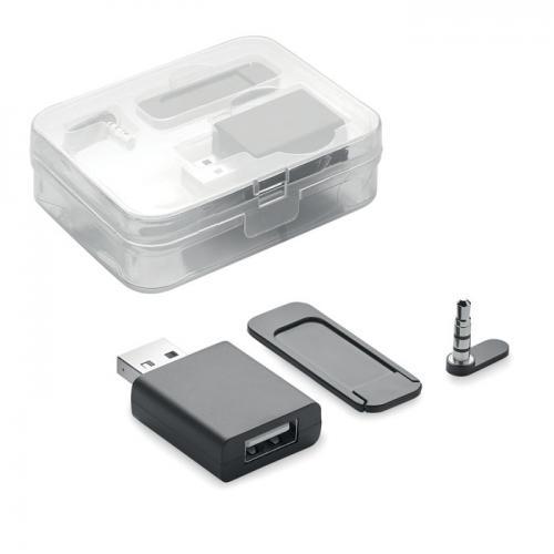 Blocker kamery/danych/dźwięku czarny