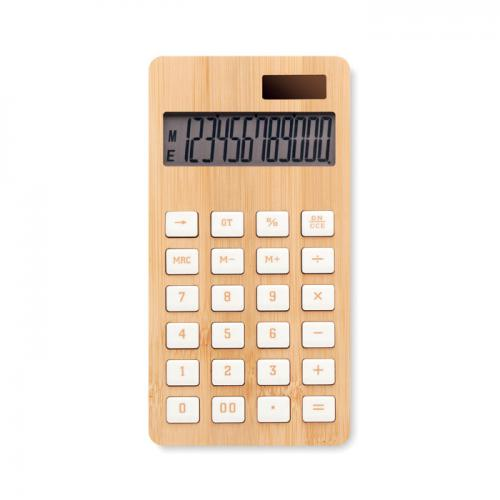 12-cyfrowy kalkulator, bambus drewna