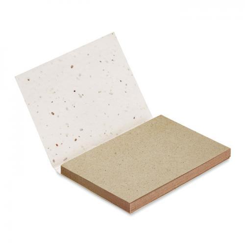Zestaw kartek z nasionami biały