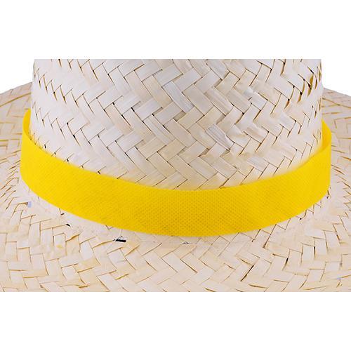 Tasiemka non-woven do kapelusza Żółty
