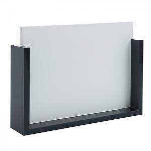 Ramka na zdjęcia - szklana z czarną oprawką 13x18 cm