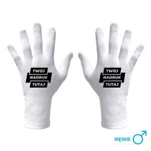 Rękawiczki higieniczne męskie z nadrukiem fullprint