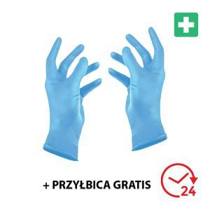 Rękawiczki nitrylowe rozmiar L - 100 szt. - WYSYŁKA 24H + GRATIS!