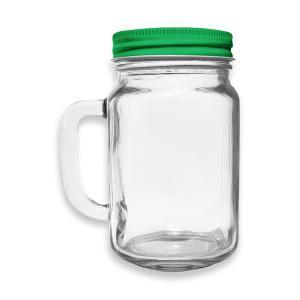 Kubek słoik ze słomką szklany