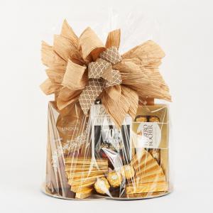 Kosz prezentowy - Złoty Lindt