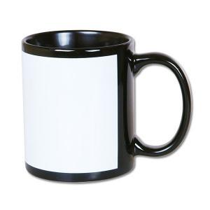 Kubek ceramiczny czarny z białym oknem