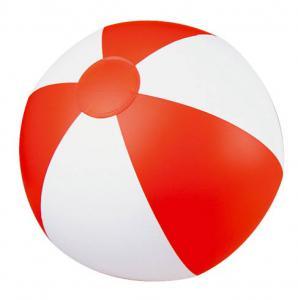 Piłka plażowa dwukolorowa KEY WEST czerwony