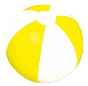Piłka plażowa dwukolorowa KEY WEST żółty