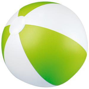 Piłka plażowa dwukolorowa KEY WEST jasnozielony