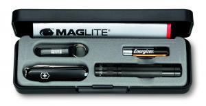 Zestaw z lataką Maglite-Solitaire LED i czarny scyzorykiem Victorinox Classic 58 mm