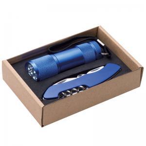 Zestaw latarka i scyzoryk DOVER Niebieski