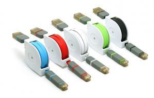 Zwijany kabel USB do transferu danych zielony