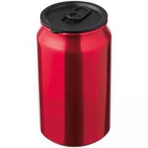 Kubek metalowy LOCARNO Czerwony