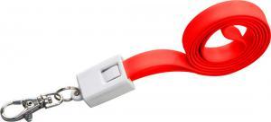 Smycz do transferu danych z micro USB LE PORT Czerwony