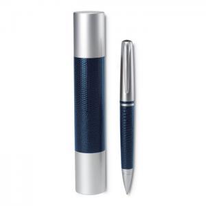 Długopis, metal ze skórą