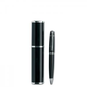 Długopis w aluminiowym pudełku czarny