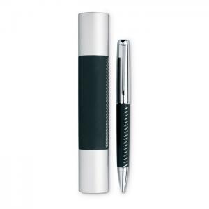 Długopis w aluminiowej tubie czarny
