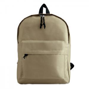 Plecak z zewnętrzną kieszenią beżowy