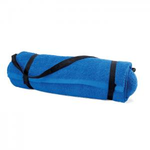 Ręcznik plażowy z poduszką niebieski