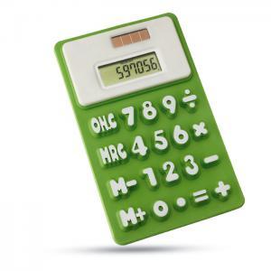 Kalkulator na baterię słoneczą limonka