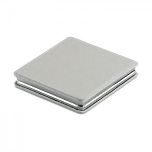 Podwójne magnetyczne lusterko srebrny mat