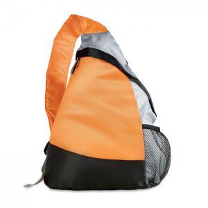 Kolorowy, trójkątny plecak pomarańczowy