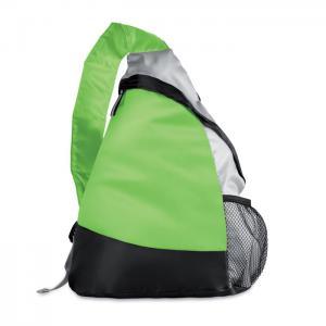Kolorowy, trójkątny plecak limonka