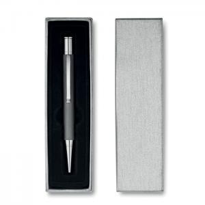 Aluminiowy długopis w pudełku.