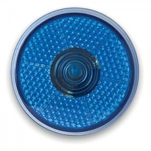 Okrągła migająca lampka LED granatowy