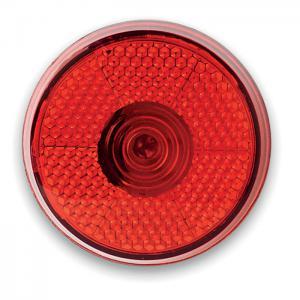 Okrągła migająca lampka LED czerwony