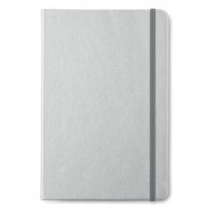 Notatnik A5 w linie srebrny mat