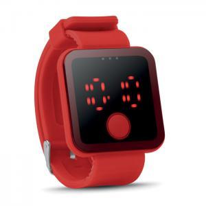 Zegarek LED czerwony